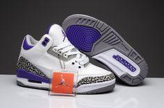 new product 55409 a3e25 Air Jordan 3 Retro GS White Purple for sale  109.99 Womens Jordans, Cheap  Jordans,