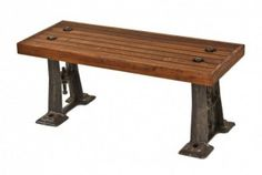 narrow industrial coffee table
