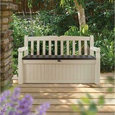 Patio Storage Bench Furniture Outdoor Seat Container Garden Deck Durable Large #PatioStorageBench