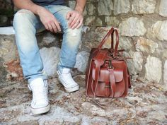 Apollo Travel Bag / Twininas Genuine Greek Leather Bag by Twininas Apollo Travel, Leather Bags, Leather Backpack, Handmade Jewellery, Ss 15, Duffel Bag, Travel Bag, Greek, Shoulder