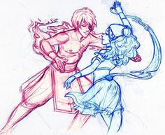 Pretty! Tbh these are sparring sessions I loved because water and fire were just SO COOL