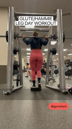Hip Thrust Workout, Glute And Hamstring Workout, Dead Lift Workout, Buttocks Workout, Squat Workout, Gym Leg Workouts, Weight Workouts, Gym Workout Videos, Gym Workout For Beginners