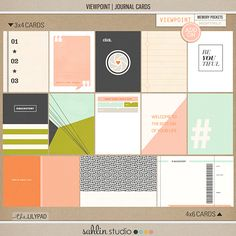 Viewpoint (Journal Cards) | by Sahlin Studio  There's nothing quite like a good adventure to change the way you see the world! Now you can capture all the joy of the journey with my Viewpoint: Journal Cards! Featuring an eclectic mix of bold graphic patterns & v...