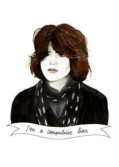 Allison  Reynolds in the Breakfast Club watercolour portrait PRINT Ally Sheedy