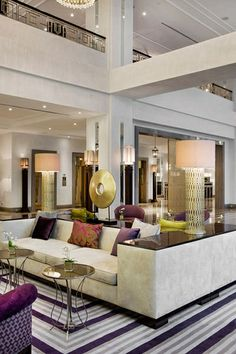 """The lobby of the Marti Istanbul Hotel, which opened in January 2013, reflects Zeynep Fadillioglu's design philosophy for the 270-room property: """"globally modern—locally inspired."""""""