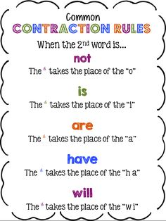 Common Contraction Rules!