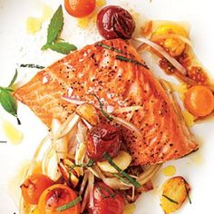 Fresh Tomato Recipes: Arctic Char with Blistered Cherry Tomatoes | CookingLight.com