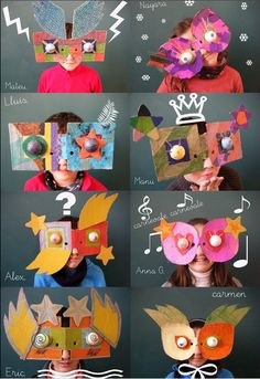 Cardboard face masks
