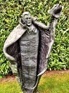 Dracula statue in... Dublin, Ireland.    In sweet loving memory of the Irish Bram Stoker, not of the Romanian vampire prince, of course!