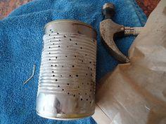 Tin Can Tea Light Holders Tea Light Holder, Holiday Fun, Tea Lights, Tin, Garden Ideas, Arts And Crafts, Teaching, Crafty, Canning