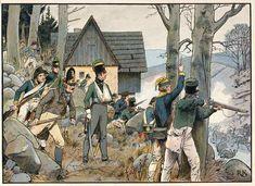 """Napoleonische Kriege. Niederlage Preußens 1807. """"Der Gebirgskrieg in der Grafschaft Glatz""""."""