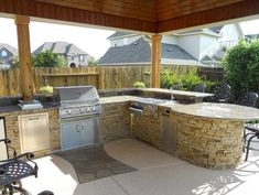 A traditional outdoor kitchen.