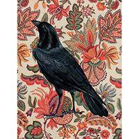 Poster Flower Raven orange/svart