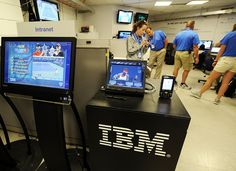 Inside the US Open scoring center: The US Open scoring center delivers match data and in-depth statistical information from the court, via the cloud, to the fans