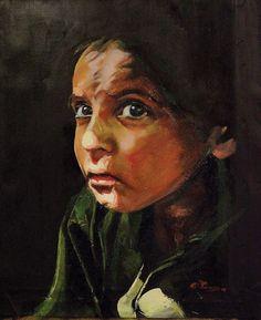 Ορέστης Ρούτσος / Bullying Orestis Routsos / Bullying 50 x 40 cm / oil on canvas