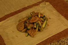 ... zucchini, leeks and thyme, seasoned with five spice powder and