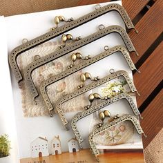 Welcome to CrafthardwareFinding:) purse frame purse clasp clutch frame coin purse Making purse hardware color: bronze size: in) single loop in) double loop in) double loop in) double loop in) double loop Quantity: Gold Purses, Leather Purses, Leather Tooling, Leather Jewelry, Handmade Bags, Handmade Bracelets, How To Make Purses, Frame Purse, Handmade Notebook