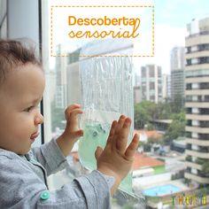 Descoberta sensorial para bebês com gel