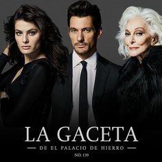 Coming soon.. Isabeli, David Gandy & Carmen Dell'Orefice for La Gaceta