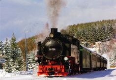 russian trains | 0592 GERMANY (Saxony) - A steam locomotive in Neudorf, on the ...