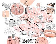 """Sehen Sie sich mein @Behance-Projekt an: """"Berlin Map"""" https://www.behance.net/gallery/46278233/Berlin-Map"""
