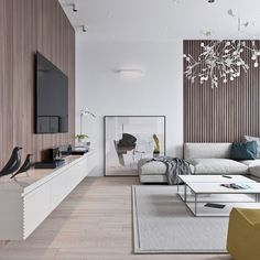 3 Light Interiors With Creative Pops Of Color. Minimalist Living  RoomsInterior Design Living Room ...