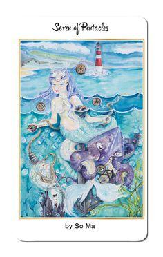 So Ma returns to create the Seven of Pentacles for 78 Tarot Nautical…