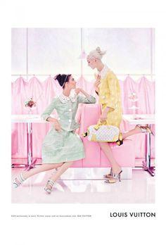 LOUIS VUITTON SS12  Photographer: Steven Meisel  Models: Daria Strokous & Kati Nescher