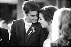 A sweet moment between the bride and groom during their ceremony.  Woodinville Wedding : Bride & Groom : Wedding Ceremony  Ivy & Tweed Photography