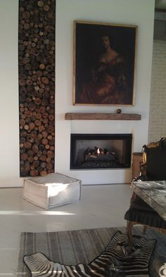 \\ ventless fireplace I designed for a Downtown LA loft.