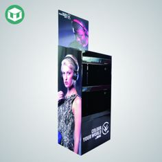 Free Standing Display Unit For Headset Cardboard Display, Spot Uv, Can Design, Product Information, Headset, Display Stands, The Unit, Retail Stores, Flooring