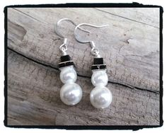 Snowman Earrings Free Shipping by JuneMoonBeads on Etsy, $11.99