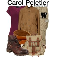 Inspired by Melissa McBride as Carol Peletier on The Walking Dead. The Walking Dead W, Walking Dead Clothes, Walking Dead Costumes, Walking Closet, Daryl And Carol, Fashion Beauty, Luxury Fashion, Melissa Mcbride, Hiking Pants