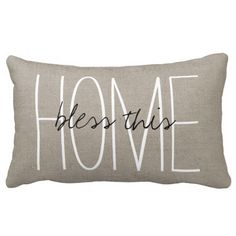 Rustic Chic Bless This Home Throw Pillow