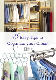 The closet is a critical part of our everyday life.  We start and end every day pulling from its recesses, so why not make it a pleasant experience?  Read on as eBay shares eight easy tips to organize your closet. Since closets come in all different shapes and sizes you may not be able to implement all of them, but even trying a few will make a huge difference in your life!