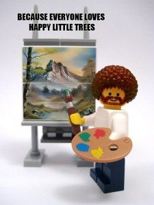 The origanal portrait for fans who like legos and Bob Ross
