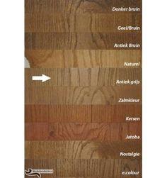 Beschikbare kleuren meubelolie & vloerolie - Meubelproducten.nl