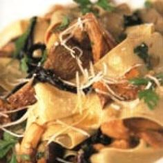 Pappardelle with Mixed Wild Mushrooms Recipe | Jamie Oliver | Food Network