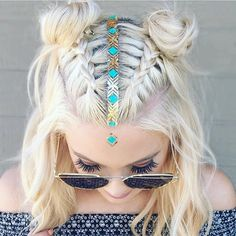 """Mallory Etsy artist• Atlanta on Instagram: """"Someone come over and do this to my hair repost via @imallaboutdahair #braids #festivalHair #inspo"""""""