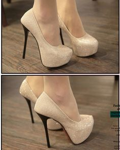 Top Quality High-Heel Glittering Women's Shoes Stiletto Pumps Lady's Dress Shoe
