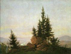 Friedrich, Caspar David: Ausblick in das Elbtal