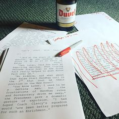 Saturday Afternoon's are for College Football and Editing.  #amwriting #duvel #nanowrimo #word #author #autor #escribir #buch #writing #writer #novel #football #cfb #schreiben #livros #libros #bookstagram #producer #creator #bier #belgique #belgium #blonde #sharpie #manuscript #leer #lesen