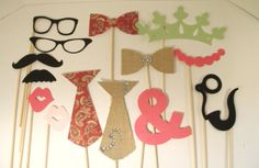 15 Piece Vintage Chic Photo Booth Props  by IttyBittyWedding, $29.95