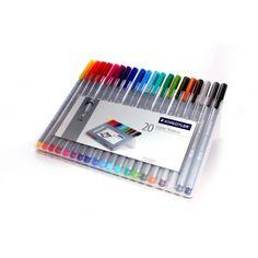 ست روان نویس 20 رنگ استدلر 60000 تومان  20triplus Fineliner 0.3mm