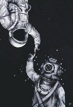 You're so down to earth and I'm up in the stars, so show me the sea and I'll take you to Mars