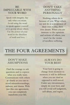 The 4 agreements by Don Miquel Ruiz