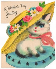 Siamese mother's day card