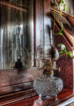 Old Oil Lamp For Light - I remember my grandpa & grandma didn't have electricity until I was 5.
