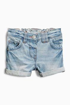 Kopen Denim shorts met bleekwassing (3 mnd-6 jr) nu online op Next: Nederland