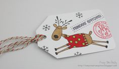 I have been loving the reindeer images in the Hero Arts set I bought at Michael's last week, the number is A great set to use . 25 Days Of Christmas, Christmas Gift Tags, Christmas Paper, Christmas Crafts, Xmas, Hero Arts, Winter Holidays, Reindeer, Paper Crafts